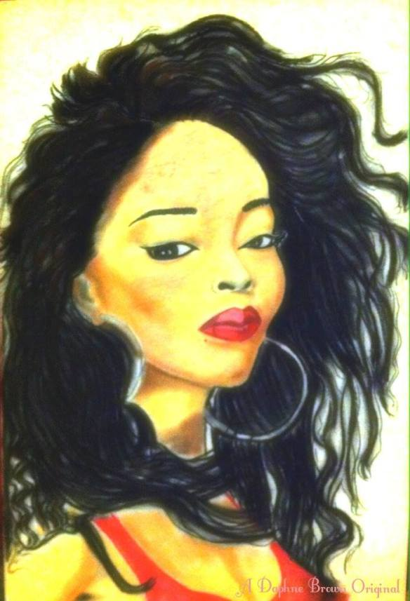Jody Watley -Pastels -  by Daphne Brown © 2014 Daphne Brown