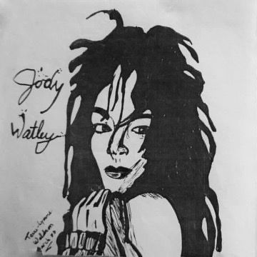 Pen and ink. Jody Watley by Terri Lynne-Waldron