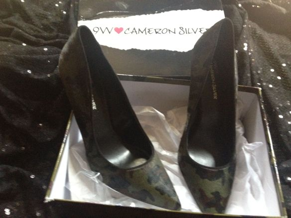 Camo pumps by Cameron Silver for 9W