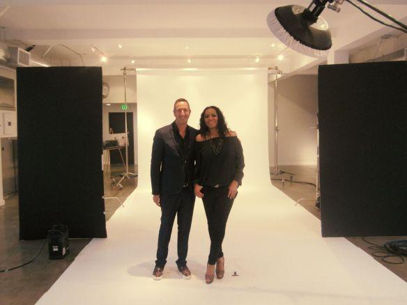 With Christos Garkinos - Eureka photo session.