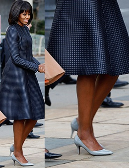 Inauguration Chic in Thom Browne, and J Crew Kitten Heels