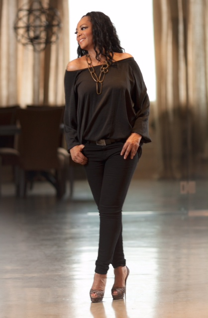 "Jody Watley in ""Peasant"" Blouse Eureka by Christos Garkinos  Photography: John Tyler Curtis"