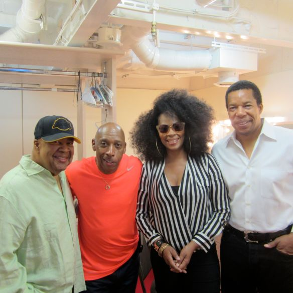 George Duke, Jeffrey Osbourne, Jody Watley and Tony Cornelius before Don Cornelius Tribute which I was the host.