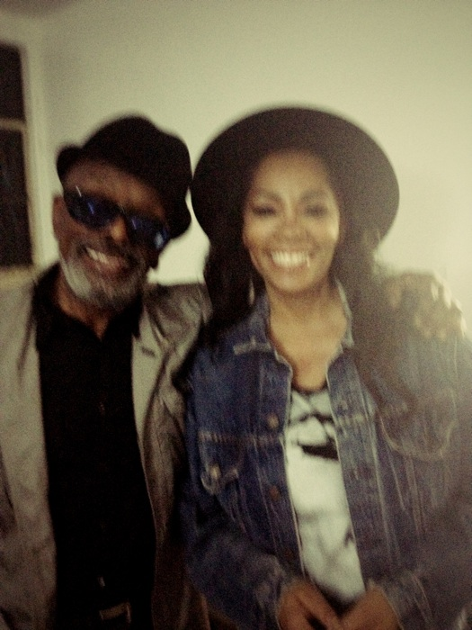 Meeting Leon Ware backstage for first time. Photo: Jody Watley 2013 (c)