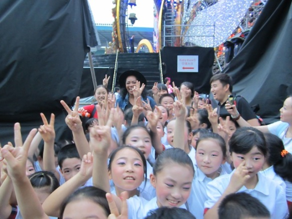 I loved this moment with some of the children's chorus!