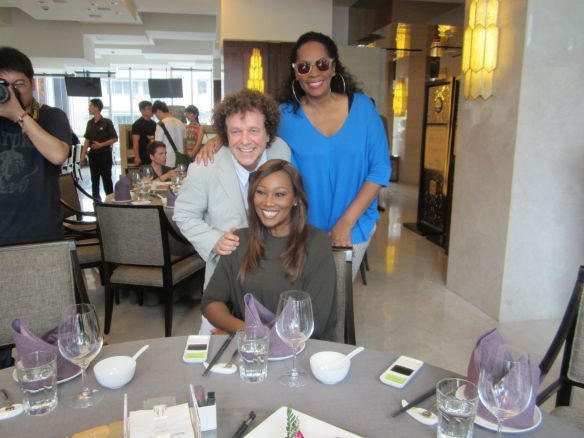 """With  Leo """"You Make Me Feel Like Dancing""""  Sayer one of music's great from the 70's and Gospel powerhouse Yolanda Adams at luncheon."""