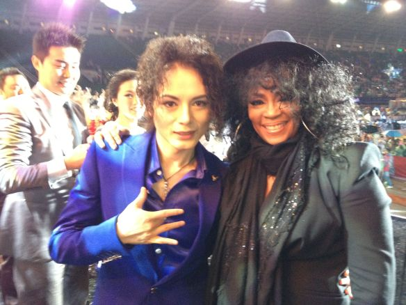 With lead Michael Jackson Tribute Performer. Chengdu Stadium.