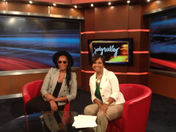 Jody Watley with Allison Seymour from Fox 5 WTTG Morning News. Photo  Jody Watley Music (c) 2013