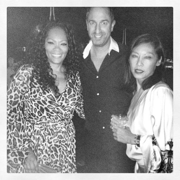 Jody Watley, Christos Garkinos and Garcelle Beauvais. Photo: Christos Garkinos (c) 2013