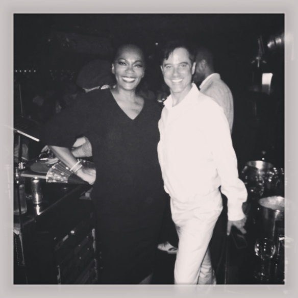 Jody Watley. Bryan Rabon of Giorgio's. With DJ Adam Bravin on the decks. Photo: (c) 2013 Jody Watley via Instagram