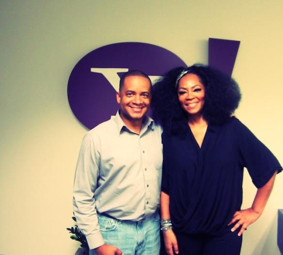 Billy Johnson Jr. and Jody Watley at Yahoo Music, Oct. 1, 2013