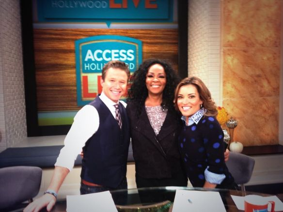Photo: (c) 2013 Jody Watley with Billy Bush and Kit Hoover