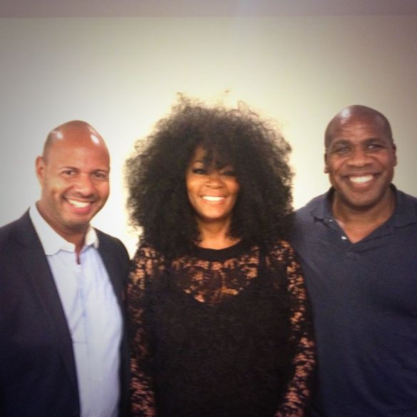 With Editor in Chief Emil Wilbekin and Senior Editor Patrik Henry Bass at Essence Magazine