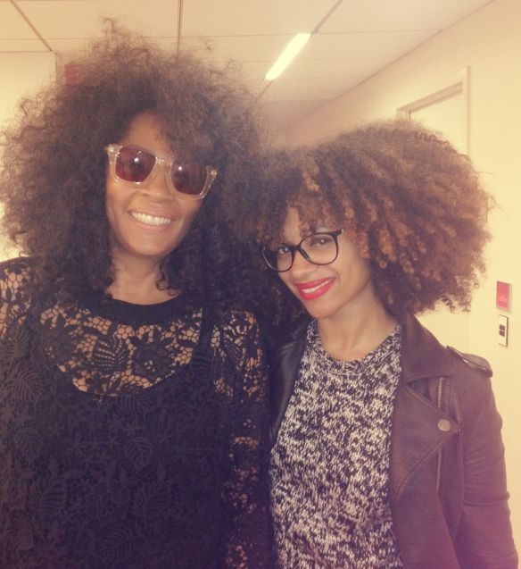 Jody Watley with Celia Smith, Fashion Editor of Essence Magazine