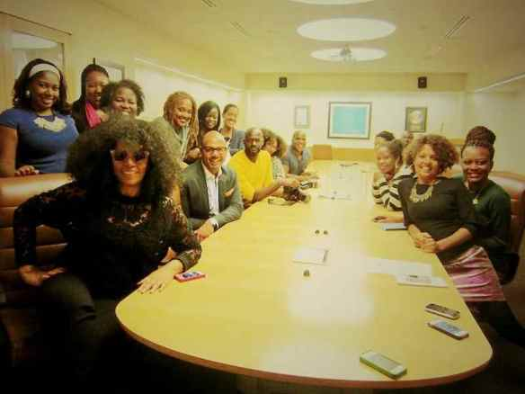 Jody Watley and Essence Magazine staff. (c) 2013