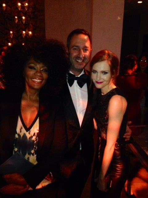 """""""It's Handled!"""" with Scandal's Darby Stanchfield """"Abby"""" and my friend Christos Garkinos of Decades Inc Photo © 2013 Christos Garkinos"""
