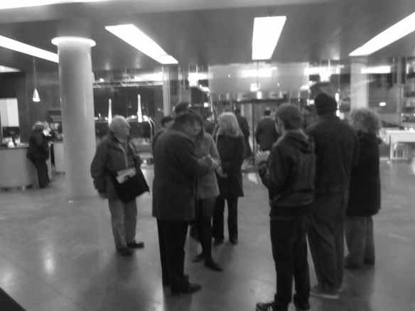 Each show day in the lobby - fans await for autographs .. ''Security!'