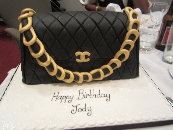 An amazing birthday cake in the form of a Chanel handbag! © 2014 Jody Watley