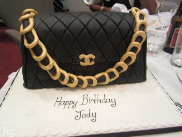 An amazing birthday cake in the form of a Chanel handbag! © 2014 Jody Watley