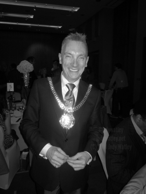 Party guest Gary Millar Lord Mayor Liverpool Townhall