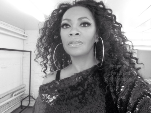 Time to go on. Dressing room, Stockport. © 2014 Jody Watley