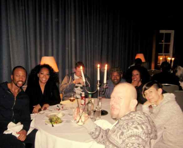 Having a nice time after a great concert at St. Helens Theatre Royal © 2014 Jody Watley Images