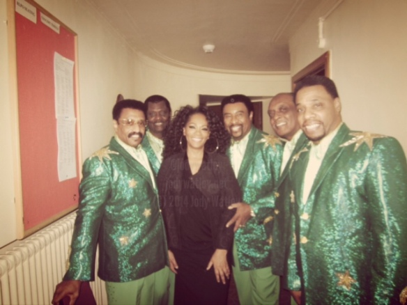 Jody Watley Backstage with Dennis Edwards and The Temptations Revue in Liverpool. © 2014 Jody Watley Images