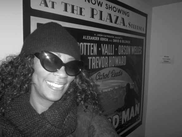 Trying to be cute..walking up 7 flights of stairs to exit..easier coming in than going out! Enjoyed the vintage film posters. © 2014 Jody Watley