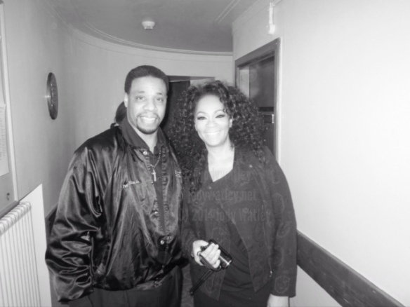 Jody Watley with Paul Williams Jr. (son of original Temptations member Paul Williams) - one of the nicest guys and gentleman out here. © 2014 Jody Watley