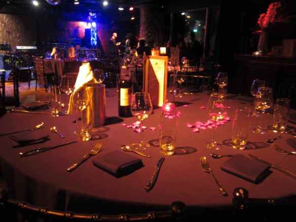 The intimate, posh and stunning Gilgamesh, Camden table setting.