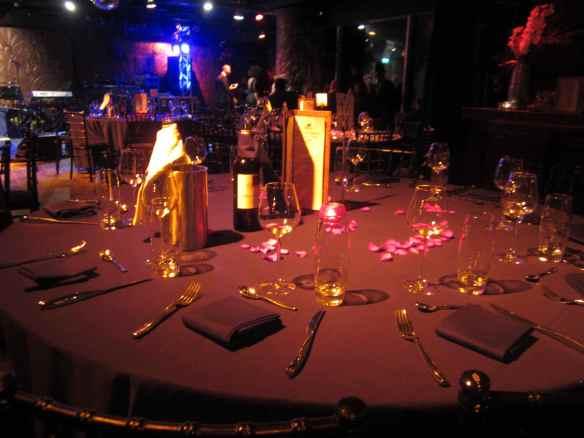 The intimate, posh and stunning Gilgamesh, Camden table setting.