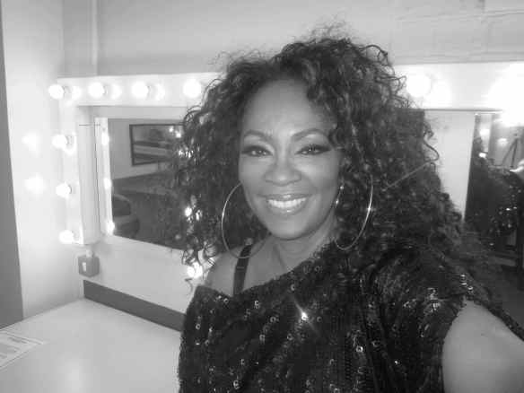 Taking a moment before showtime. © 2014 Jody Watley