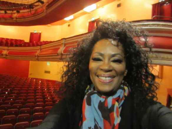 I forgot where this was or what theatre - but it was very regal. #selfie (c) 2014 Jody Watley