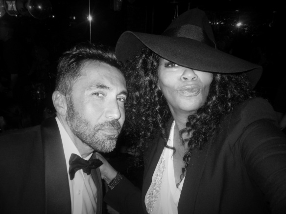 John Eshaya always brings a sense of fun, intrigue and surprises with what he wears to Giorgio's - I adore him! John Eshaya of JET and Jody Watley. © 2014 Jody Watley