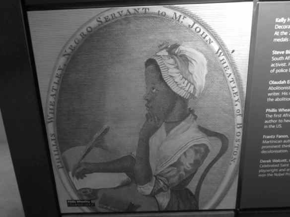 Phyllis Wheatley, a slave, first published African American woman author