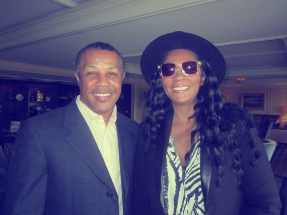 Reggie Calloway, writer producer former Midnight Starr founder with Jody Watley © 2014 Jody Watley