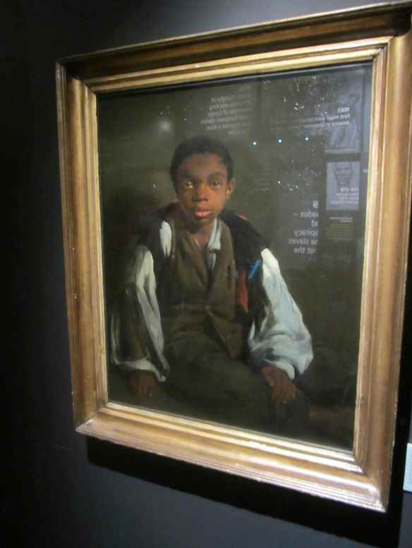 I was captivated by this painting of a little boy who had stowed away on a Palm Oil slave ship, and taken in by a painter in Liverpool
