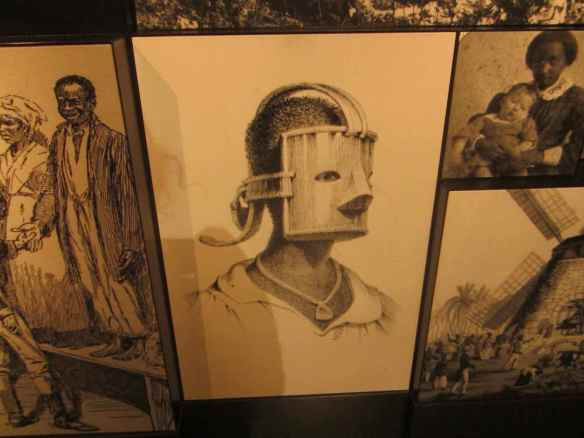 A slave torture mask for women slaves who got out of line..it was daunting to think about all of this that went on..