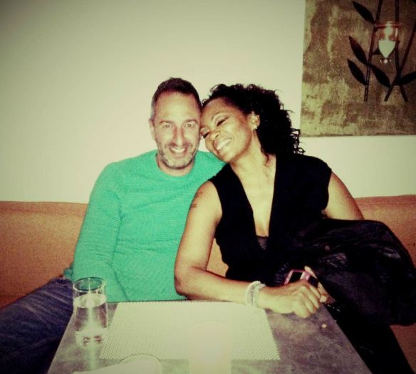 Dinner at Fig and Olive with one of my best friends - Christos Garkinos. © 2014 Jody Watley