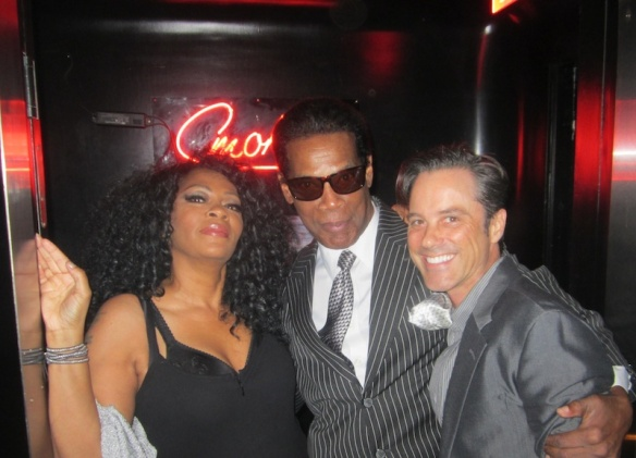 Jody Watley. Gerald Brown, Bryan Rabin at Giorgio's. Photo 9c) 2014 Jody Watley