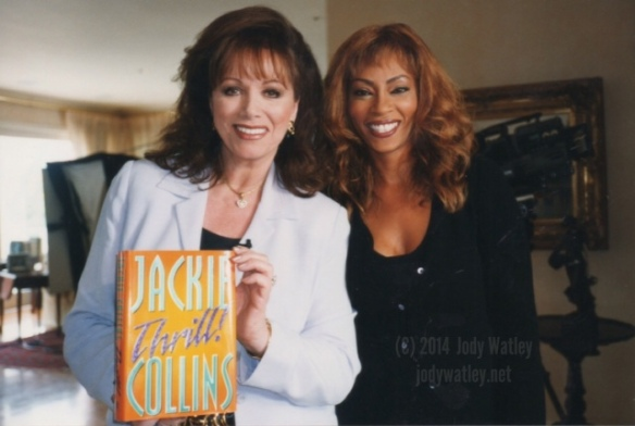 © 2014 Jody Watley pictured with Jackie Collins in 1998.