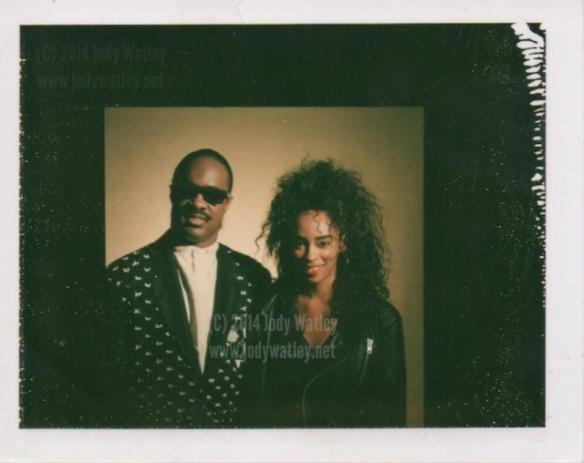 Stevie Wonder and Jody Watley in 1988. © 2014 Jody Watley