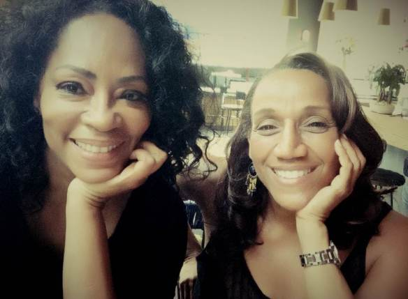 © 2014 Jody Watley. JJody Watley with Kathy Sledge in Los Angeles.