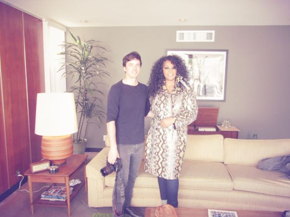 © 2014 Jody Watley Pictured with photographer Mason Poole V Magazine