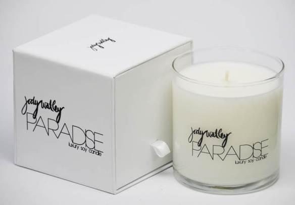 Jody Watley PARADISE Luxury Soy Candle. Logo and Design: Ray Easmon and Jody Watley