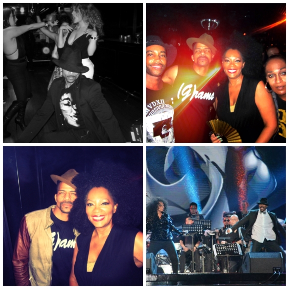 Rosero McCoy  - a collage can't really capture the years and love onstage and off. Top right: Director Bille Woodruff, Rosero McCoy, Jody Watley, Wallace Butts