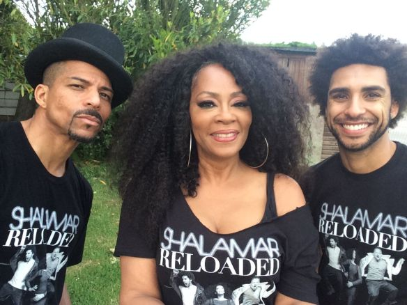 Rosero McCoy, Jody Watley, Nate Allen Smith. Happy Days Festival 2015 UK. SHALAMAR.