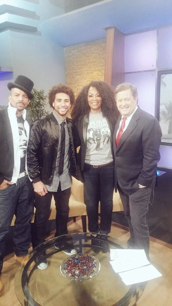 Rosero McCoy, Nate Allen Smith, Jody Watley and entertainment personality Sam Rubin on KTLA Morning News and Entertainment 7/3/2015