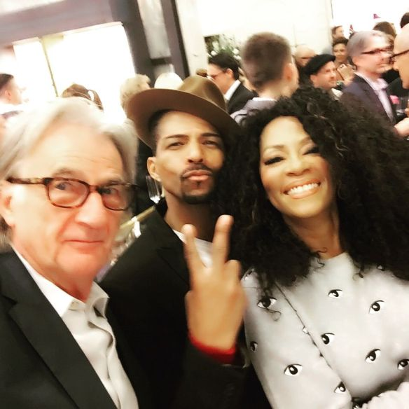 Designer Paul Smith, Jody Watley and Rosero McCoy. A #PaulSmithSelfie