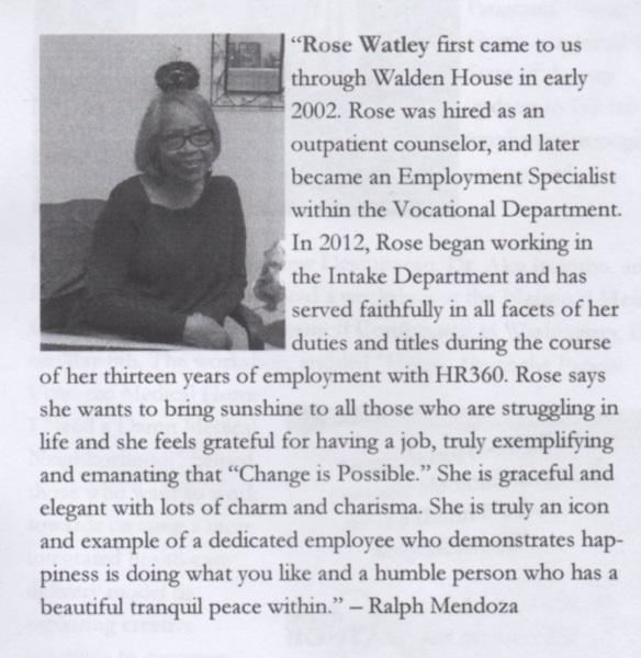 Rose Watley. Healthright 360.